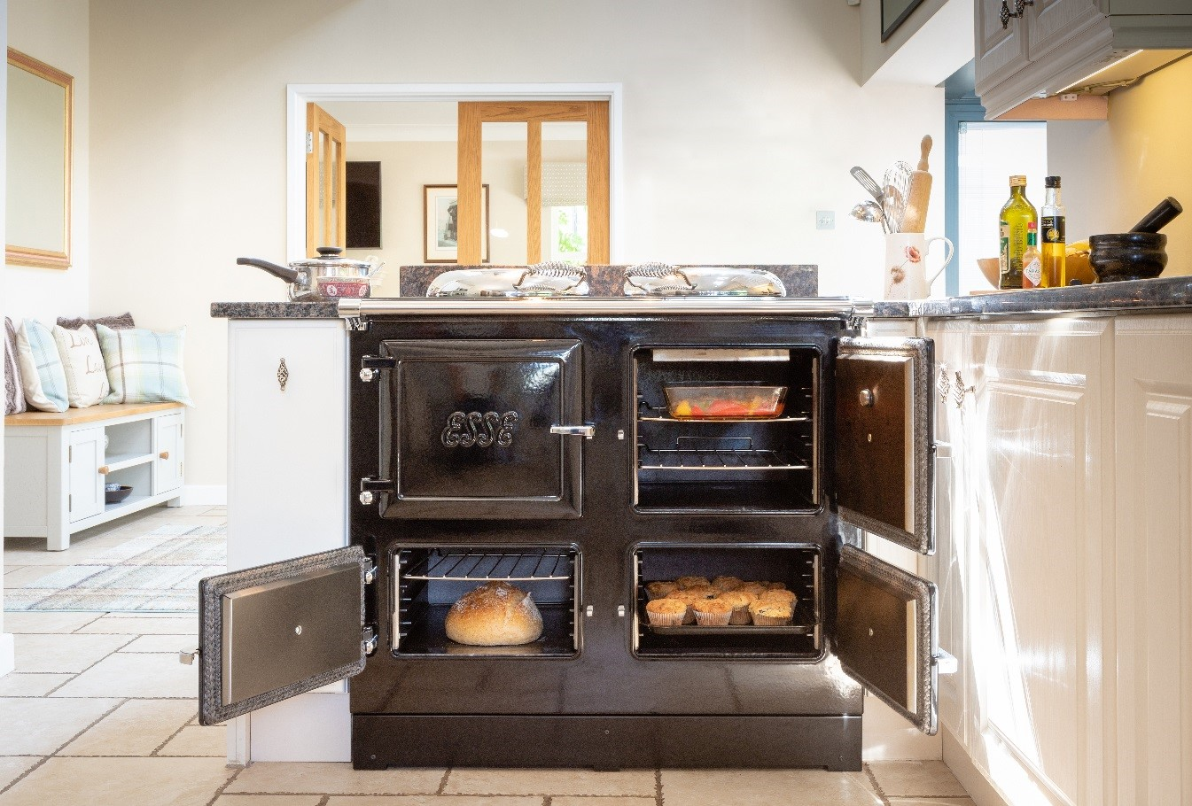 Esse 990 EL Black four door range cooker